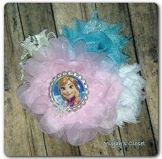 Anna Inspired Hair Clip Snow Hair Clip Frozen by MiyahsCloset, $10.99