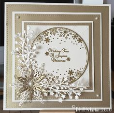 Hello Crafters I'm back on your HOCHANDA screens tomorrow so thought I'd share a few sneaky peeks with you :-) This is the rest of my Sn. Die Cut Christmas Cards, Beautiful Christmas Cards, Homemade Christmas Cards, Merry Christmas Card, Beautiful Handmade Cards, Xmas Cards, Handmade Christmas, Poinsettia Cards, Snowflake Cards