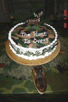 Hunting Groom's cake,  camo top.