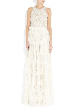 Lanvin Tulle-Trimmed Lace Gown #vintage #lace #wedding