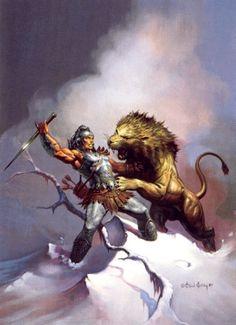 Fantasy Art Men, Fantasy Artwork, Vikings, Masculine Art, Conan The Barbarian, Sword And Sorcery, Fantasy Illustration, Pulp Art, Medieval Fantasy