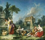 "New artwork for sale! - "" The Fountain Of Love 1748 by Boucher Francois "" - http://ift.tt/2yBwy9I"