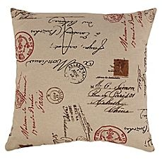 image of French Postale Floor Pillow