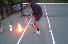 playing tennis with a fireball http://ift.tt/2i1LQwL Love #sport follow #sports on @cutephonecases
