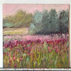 This is an original inch oil painting on board. The scene is from springtime in Mississippi. x Original Spring Time, Scene, Mississippi, Red, Paintings, Products, Paint, Painting Art, Painting