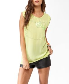 Sequined Hello Kitty® Neon Top | FOREVER21