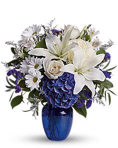 Beautiful in Blue Bouquet - Teleflora
