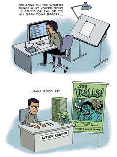 Do What Only You Can Do Best... Make Good Art - NEIL GAIMAN (zenpencils.com)