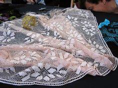 Santurce 2014 - Maria Blanca - Picasa Web Albums Albums, Lace Skirt, Embroidery, Floral, Fashion, Picasa, Dishcloth, Moda, Needlepoint