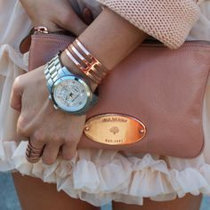 Mulberry Plaster Pink Clutch