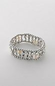 metal & pearl stretch bracelet | J.Jill