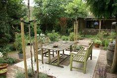 tuinontwerp kleine tuin - Google zoeken Outdoor Furniture Sets, Outdoor Decor, Outdoor Ideas, Small Garden Design, Interior And Exterior, Patio, Nice, Inspiration, Home Decor