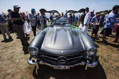 1955 Daimler AG Mercedes-Benz 300 SL Gullwing during the 2015 Pebble Beach Concours d'Elegance.