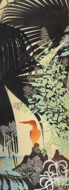 田中一村「ビロウとアカショウビン」(1962)