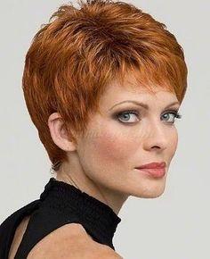 pixie frizurák, rövid frizurák - vörös pixie frizura