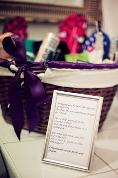 Toiletries basket - we're going to do almost the exact opposite... Toiletries for the B, not from them!