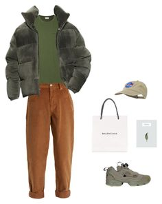 """Untitled #50"" by rayensulistiawan on Polyvore featuring Miu Miu, Oliver Spencer, Reebok, Balenciaga, men's fashion and menswear"