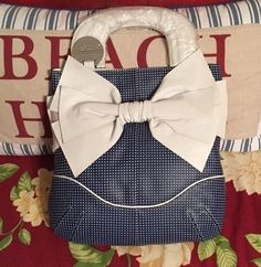 Bodhi Blue and White Polka Dot Handbag | eBay