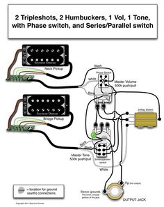 Guitar wiring also Fender Stack Knob Jazz B Wiring Diagram additionally 149181806382097419 additionally 292830 Changing Toggle Switch 3 Way Strat Switch Wiring Diagram furthermore Whole Lotta Humbucker Wiring Diagram. on humbucker parallel wiring