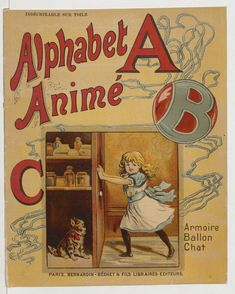 Alphabet animé Childrens Alphabet, Abc Alphabet, Childrens Books, Chat Paris, Victorian Books, Vintage Books, Minis, First Grade Art, Disney Classroom