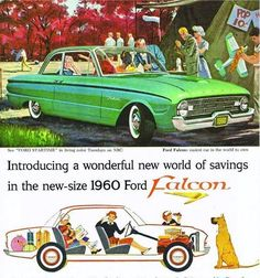 1960 Ford Falcon - We had one of these. I learned how to drive with it.