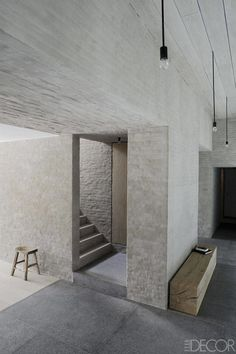 Interior Design Addict: Working within the rural vernacular, architect Vincent Van Duysen brings new life and a rigorous simplicity to a centuries-old farmhouse in the Belgian countryside. Interior Architecture, Interior And Exterior, Interior Design, Design Art, Stone Interior, Classical Architecture, Modern Design, Vincent Van Duysen, Old Farm Houses