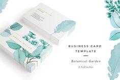 Botanical Garden I Business Card by Nordic.Arg on @creativemarket #BusinessCardMaker