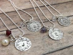 BridesmaidsweddingHand stamped by mybeadedbutterfly on Etsy, $100.00