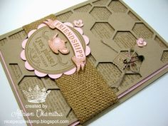 nice people STAMP!: From My Heart and Hexagon Hive Thinlits Card