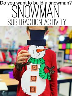 Check out this post! So many snowman activities and ideas in this post, such as this Snowman Subtraction activity for winter months.