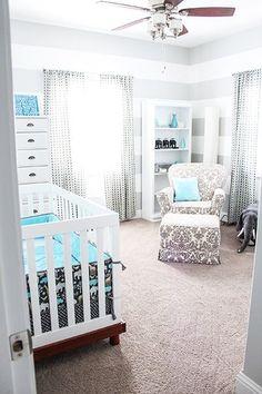 grey, white and teal elephant nursery. My baby boys room Baby Boy Rooms, Baby Boy Nurseries, Baby Boys, Neutral Nurseries, Carters Baby, Baby Cribs, Nursery Room, Kids Bedroom, Nursery Ideas