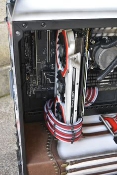 This custom computer is a diy project cooled with a MasterLiquid Pro 240 Computer Desk Setup, Cooler Master, Custom Computers, Diy Projects, Candy, Handyman Projects, Sweets, Handmade Crafts, Diy Crafts