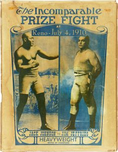 Jack Johnson, the first African-American heavy weight champion.