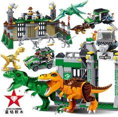 Jurassic World Marvel Building Blocks Model kits Action Figure  Toys Brick juguetes  Compatible Legoe
