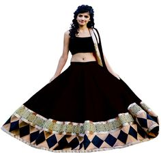 Black Lehenga, Ballet Skirt, Skirts, Fashion, Moda, Tutu, Fashion Styles, Skirt