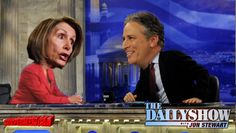 Watch Jon Stewart Literally Laugh In Nancy Pelosi's Face Over Irresponsibility On Obamacare