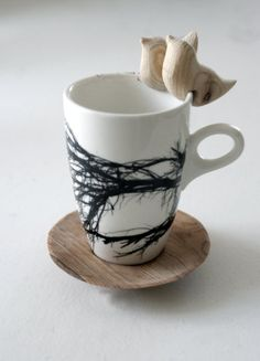 wooden birds and branch mug...gorgeous