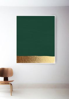 Dark Green Art Print Hunter Green Print Green And Gold Prints Modern Art Print Green Painting Abstract Art Minimal Green Wall Art - Painting Green Wall Decor, Green Wall Art, Green Art, Green And Gold, Art Mural Vert, Art Vert, Modern Art Deco, Modern Wall Decor, Modern Art Prints