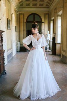 Puffy Wedding Dresses, Dream Wedding Dresses, Boho Wedding Dress, A Line Wedding Dress With Sleeves, Mermaid Wedding, Fluffy Wedding Dress, Wedding Gown A Line, Wedding Shot, Dream Wedding