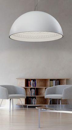 Gypsum pendant lamp CHIARODÌ | Pendant lamp by Metal Lux