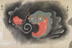 """赤舌;Akashita"" from ""化物尽絵巻;Bakemono zukushi Emaki"" by 北斎季親;Hokusai-Suechika"