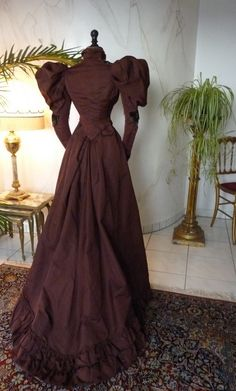 Afternoon Dress, ca. 1895 - www.antique-gown.com
