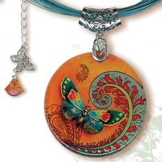 Paisley Butterfly Necklace  BOTANCIALZ Collection by by tzaddishop, $32.00