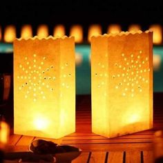 10 Pcs Pack Candle Lamp Lantern Diwali Kandil Light Bag Wax Diya