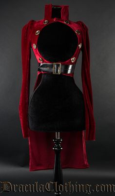 Red Openbust Tailcoat