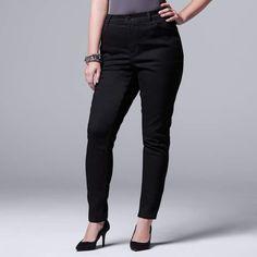 a3c774a9b83e0 Vera Wang Plus Size Simply Vera Skinny Jeans