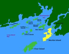 Map of Islands, Sherkin, West Cork