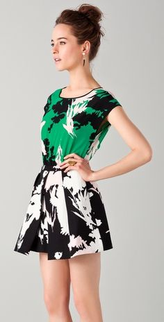 Fun Wedding Outfit? by Tibi - Fern Print Easy Dress
