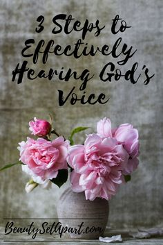 In order to live a life of submission and obedience to God, we must learn to discern His voice from the voice of the world around us. Often times we let other voices drown out the voice that most m…