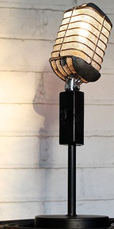 Vintage Microphone Light Fixture by Industrialighting on Etsy